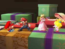 Mario and Peach with their babies version by NekoBlue63
