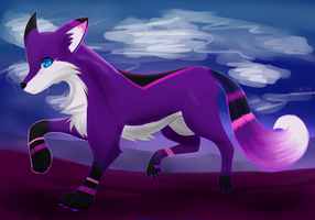 Purple Fox by Graya7