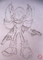 Fleetway Shadow sketch by shadowhatesomochao