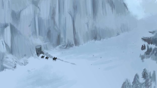 Game Of Throne wall Speed Painting by x-Lunatick-x