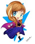Anna frozen chibi by keitenstudio