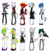 Sonic Adoptables :closed: by UnknownSpy