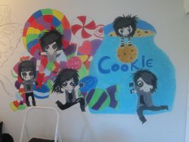 my Chibi Black Veil Brides wall! by MatrixSixx1