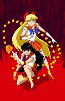 Sailor Moon: Venus and Mars Combo Attack by neo-dragon