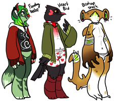 anthro character adopts auction (open) by HauntedHomo