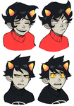 cranky faces by perditionist