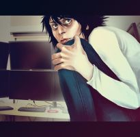 L 'Ryuuzaki' Lawliet by andrahilde