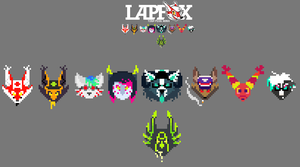 LFT: Tiny LapFox Heads by Crystal-Blackpaws