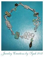 Handmade wire wrapped Turquoise Braclet by syah-mj