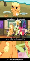 Making Fun Of Applejack's Weight Problem by Pudgewatch