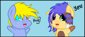 Mini Hugs by Dead-Derpyson-Hooves