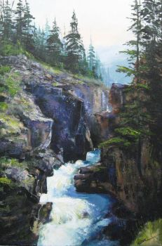 Bow Falls, The Journey by artistwilder