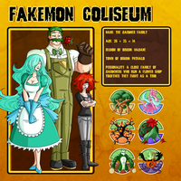Fakemon Coliseum: Gym leader 6 - Gardner Family by MTC-Studio