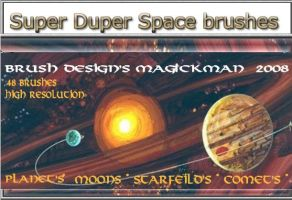 Super Duper Space Brushes by blueeyedmagickman