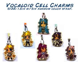 Vocaloid Chibi Cellphone Charms by wanabiEPICdesigns