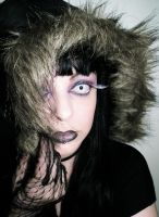 Crazy purple black dark makeup face cherrybomb81 by cherrybomb-81