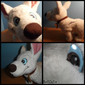 ToysRUs Lazer eye'd Bolt Plush by BoltCutie