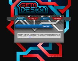 GEM Design Website Design by RoxaSora64