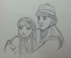 Anna and Kristoff (WIP) by Andrea365