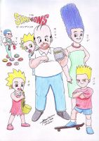 The Simpsons Dragonball Style by hirokada