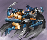 BATMAN vs WOLVERINE by daraku48