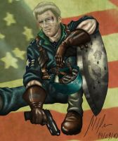 Private Steve Rogers by CoronelBottino