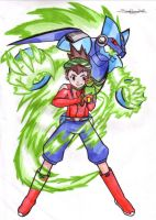 Ryuusei no Rockman by jamesnohana
