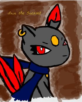 Anin the Sneasel by Bluespottedfire