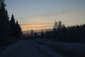 Winter road by JoriV