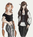 Greta and Bodil (AT with TheBananafly) by DoriDoriSushi