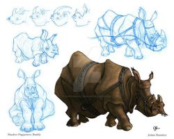 Shadow Puppeteers: Rhino by SupermanBatman