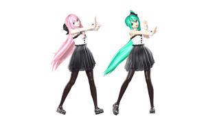MMD DT BM Miku and Luka by willianbrasil