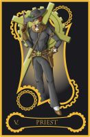 Steampunk tarot of priest by flamarahalvorsen