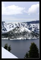 Winter at Crater Lake by khammond
