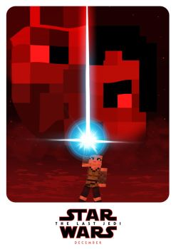 Star Wars - The Last Jedi - A Minecraft Poster by Artheleon