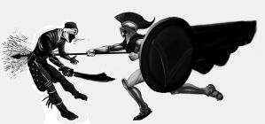 Spartans 1 This Guy 0 by jokoso