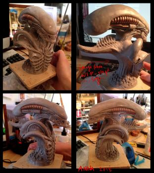 Alien warrior bust by redtrackz
