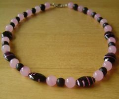 black and pink necklace by were-were-wolfy
