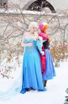 Elsa and Anna by JaniellMarie