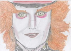 johnny depp as mad hatter by Alaina19
