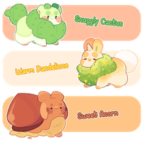 [CLOSED] First Munchlum Adopts! - Summer Auction by blushbun