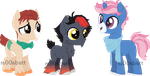 Alolan Starters-Inspired Adopts: OPEN by AdamsAdopts