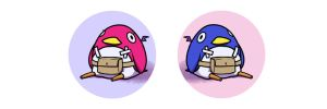Disgaea Button Series by Xanhee-Side
