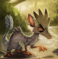 DAY 180. My Mascot (35 Minutes) by Cryptid-Creations