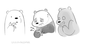 Bare Bears Doodle by Saber-Panda