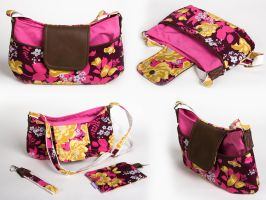 Custom made flower purse/handbag by meplushyou