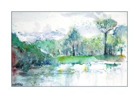Aquarelle - Brognard by Pierrick