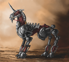Biomechanical Unicorn by Crowsrock