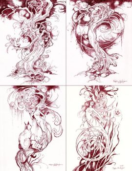 Convention Ink Drawings by puimun