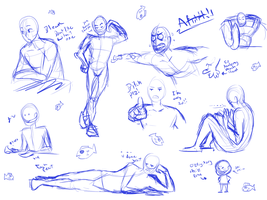 .:Men Practice Poses-Feel Free to Use:. by XKSilver